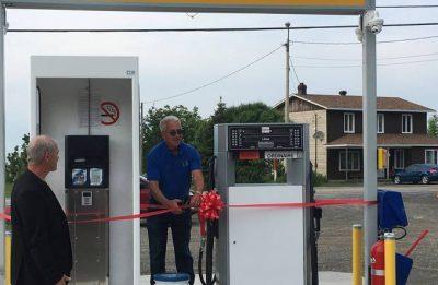Le poste d'essence automatisé officiellement ouvert à La Martre