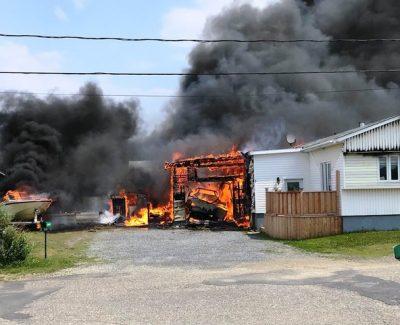 Un incendie ravage une résidence à Cap-Chat