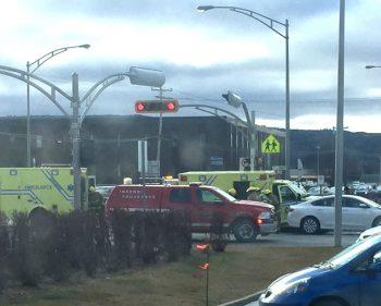 Collision entre une ambulance et un véhicule à Ste-Anne-des-Monts